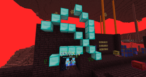 Armorsmith and 0Channy griefing Nether Water in 2020.