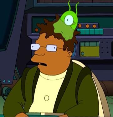LEGO Alien Conquest Minifigure Green One Eyed Clinger Brain Sucker Hat