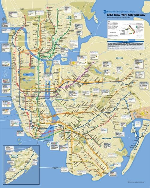 1990 Subway Map.New York Subway All The Tropes