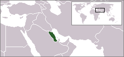 Location of Hasa (highlighted green)