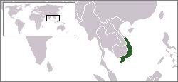 Location of South Vietnam