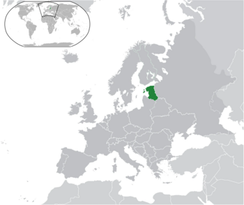 Locator Map of Baltica