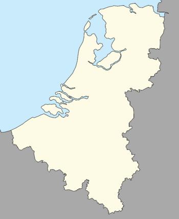 Map of continental Dutch Kingdom
