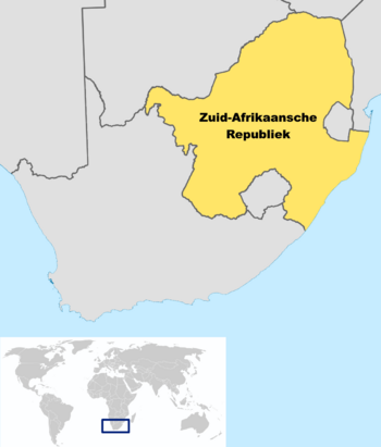 Locator Map of South African Republic