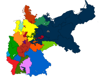 Map of Germany and it's states