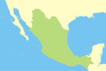 Map of Mexico (excluding its claims)