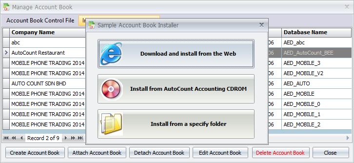 Install Sample Account Book - AutoCount Resource Center
