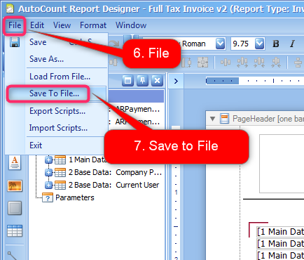 Report Design: How to copy report format to another account book