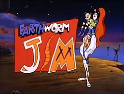 The Earthworm Jim Cartoon Image from the Intro.jpg
