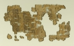 An ancient Egyptian slave list which mentions the name of Shiphrah, a midwife who saved Moses. Portion of a Historical Text, ca. 1809-1743 B.C.E. Papyrus, ink, 35.1446a-e: 11 1/2 × 71 5/8 in. (29.2 × 182 cm). Brooklyn Museum, Gift of Theodora Wilbour, 35.1446a-e (Photo: Brooklyn Museum, 35.1446e_side1_PS1.jpg) 150px