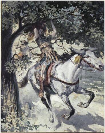 Absalom hangend aan de boom - James Tissot.jpg