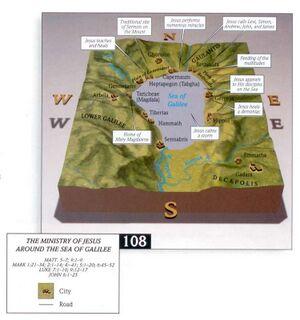 Jezus bediening rond meer van Galilea-kaart Access Foundation.jpg