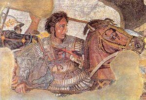Alexander de Grote-slag bij Issus mozaiek detail.jpg