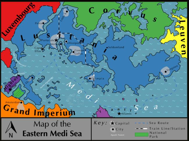 Map of Lusitania