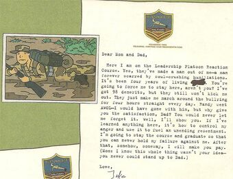A letter and photo from Jake at Buxton Ridge. (click to read letter)