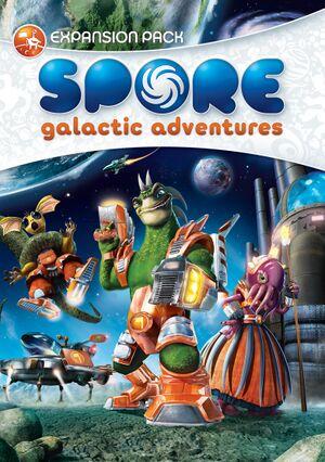 Arte de capa de SPORE Aventuras Galácticas.jpg