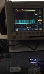 Image of the FunKey S voltage being tested.