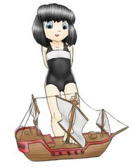 Rem and expensive model boat by alloyrabbit.jpg