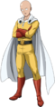 Saitama - An iconic character who saved a boy from a crab monster and then start training so hard to the point where he can defeat anyone with one punch and lost all his hair.