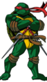 Raphael - A hotheaded turtle who is very tough, skilled, and very strong.