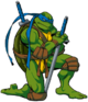 Leonardo - A turtle who is the master when it comes to martial arts.
