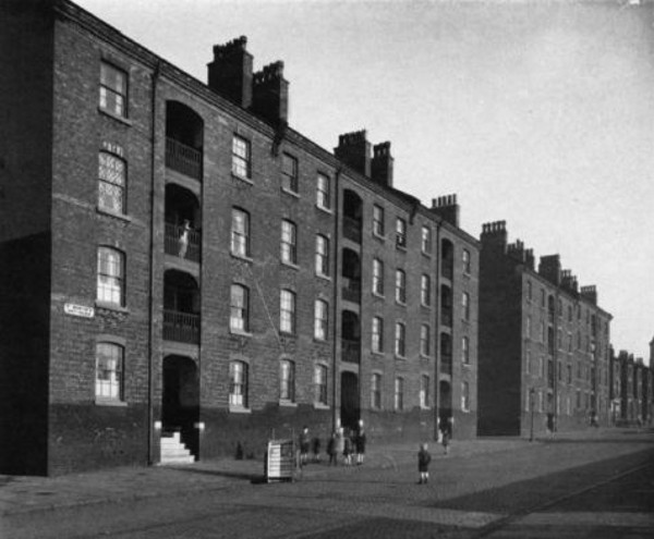 St Martin's Cottages, completed 1869 in Ashfield Street, Vauxhall, Liverpool.