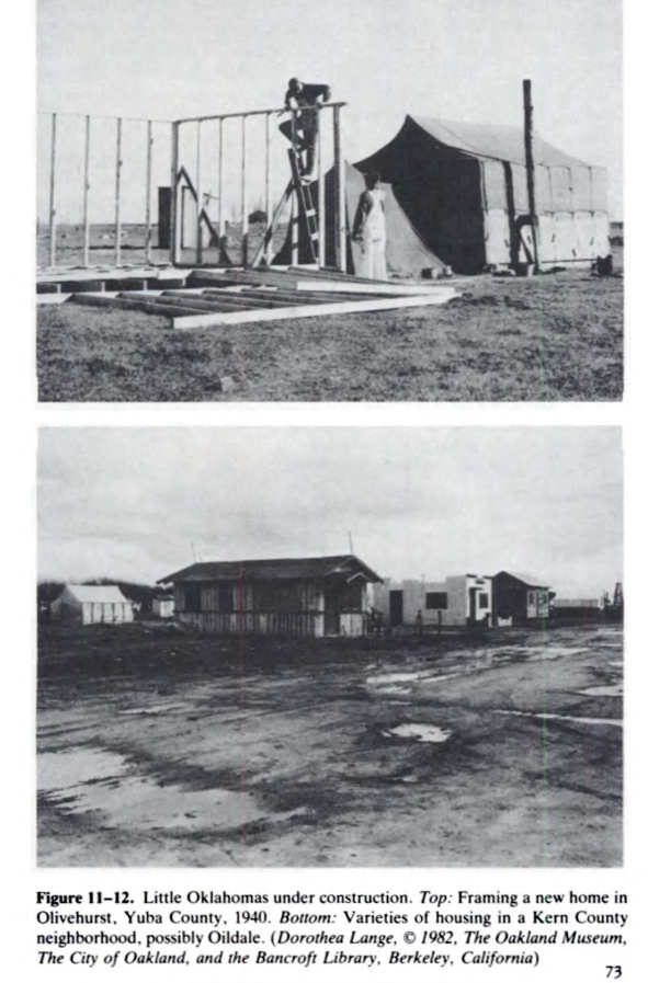 """from tents to houses in California """"Little Oklahomas"""" ca. 1940."""