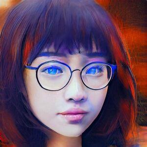 Mllaen Reyna de ojos azules brillantes
