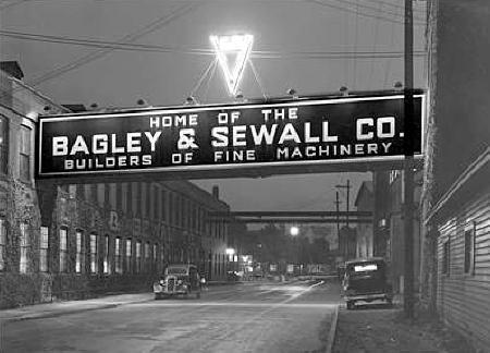 Bagley & Sewall sign crossing Sewall's Island