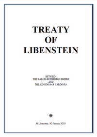 Cover of the treaty.