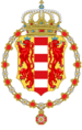 Coat of Arms of the Grand Duchy of Leuvenberg and of Strena(Order of the Edelweiss).png