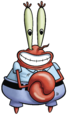 Mr. Krabs - A greedy boss that cares only about himself and his money to the point where he once fired SpongeBob for a penny.