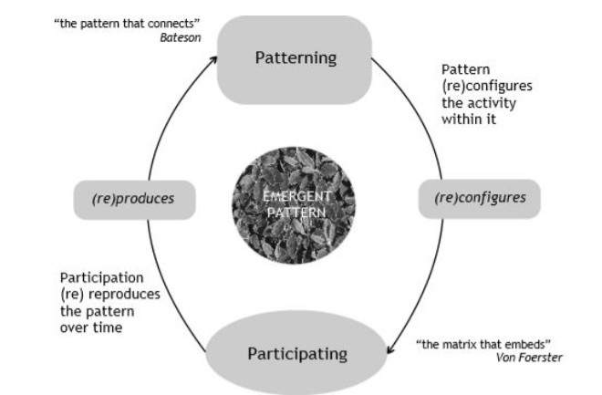 Systemic reality as a recurrent participative process (Sharpe), expanding on the notion on reflection.