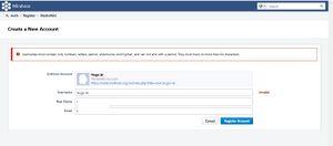 Create account in Phabricator. Invalid username