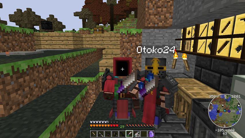 Tom a Otoko v základně kousek od spawnu.[1]