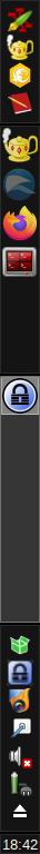 Screenshot von tint2 (vertikal)