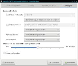 """lightdm-gtk-greeter-settings Tab """"Settings"""""""