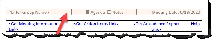 Screen Print: Select header area.