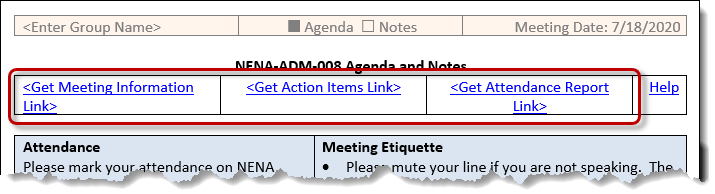 Screen print of NWS Links