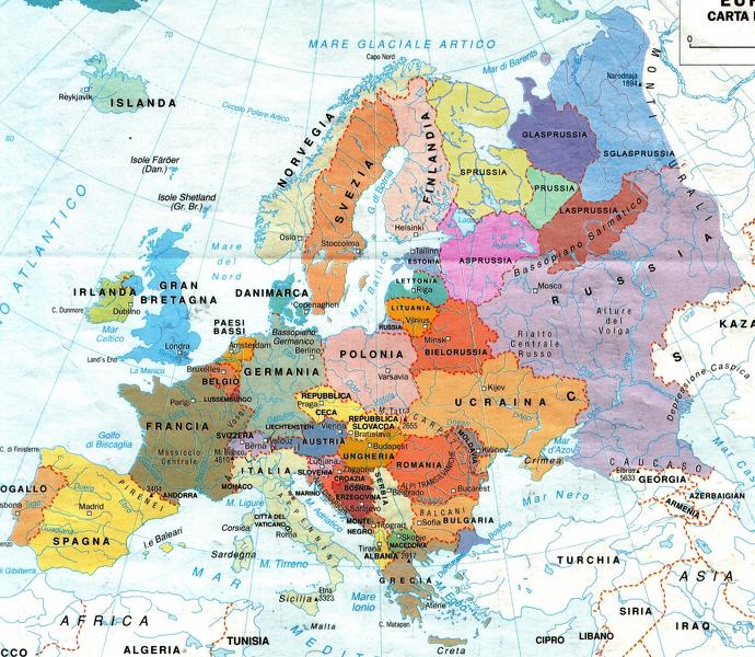 Nord Europa Cartina Politica.America Nonciclopedia