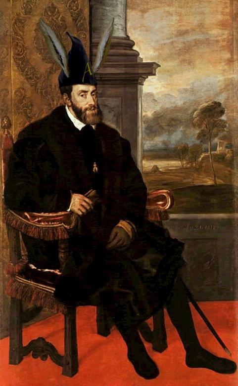 Carlo V con cappello da asino.jpg