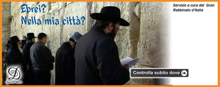 Trova l'ebreo più vicino a casa tua!