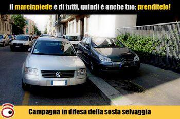 Una campagna promossa dalla pubblicità progresso per risolvere il problema della mancanza di parcheggi.