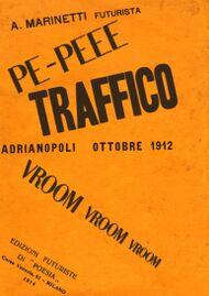 Marinetti copertina poesia Traffico.jpg