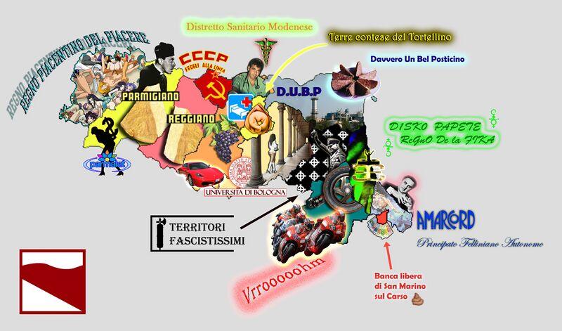 La cartina dell'Emilia-Romagna come dovrebbe essere