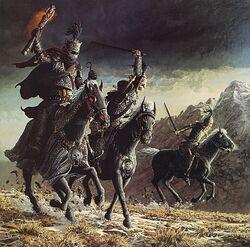 Cavalieri neri che corrono a cavallo.jpg
