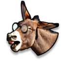 Icona asino ridente occhiali.png