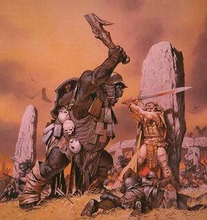Orco con la clava contro eroe con la spada.jpg