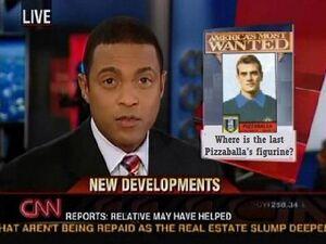 Disperato appello della CNN in seguito al furto dell'ultima figurina di Pizzaballa presente in America (proprietà di uno sconosciuto magnate giapponese).