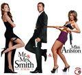 Brad Pitt, Angelina Jolie e Jennifer Aniston in Mr. Smith, Mrs. Smith e Mrs. Aniston.jpg